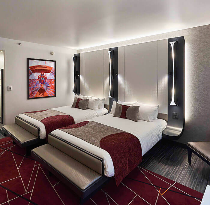 Art of Marvel 2 Double Bed Room